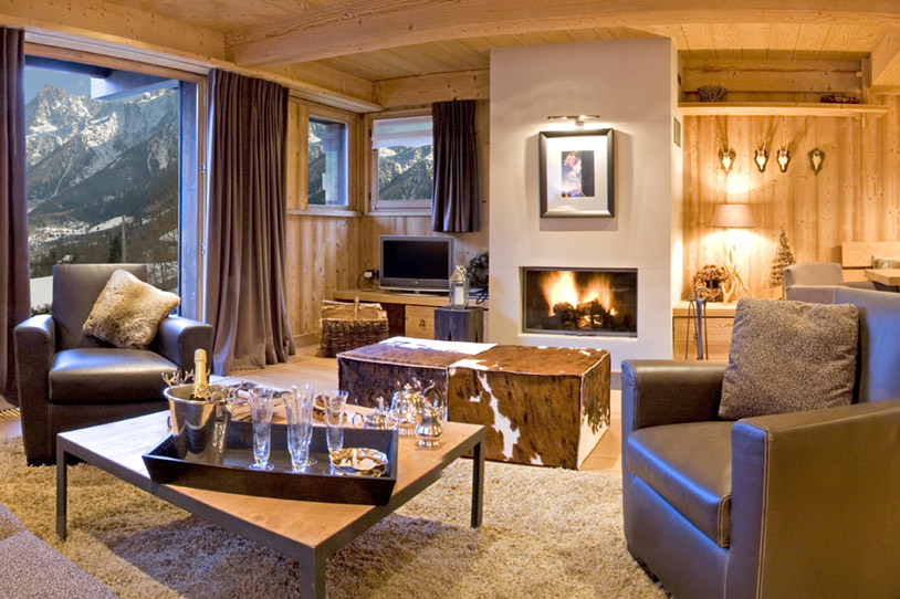 Fireplace at the heart of the living room