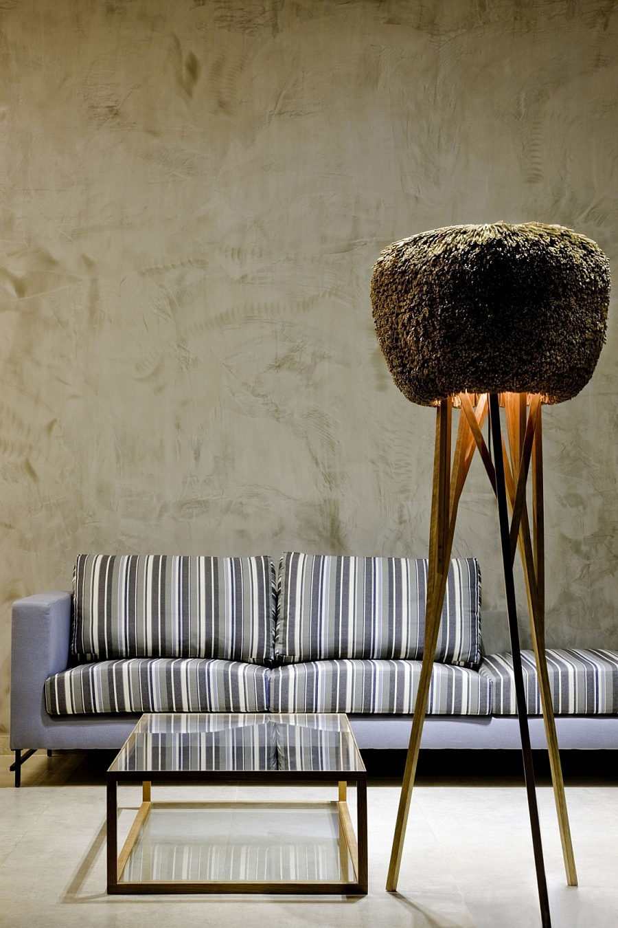 Floor lamp next to the couch idea