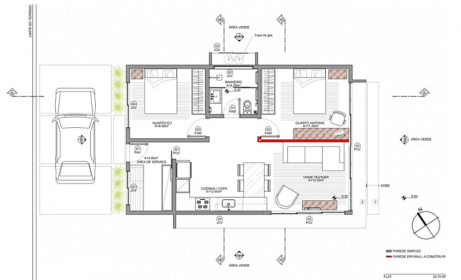 Floor plan of the stylish Box House