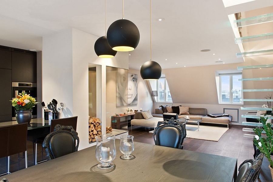 Focussed lighting in the contemporary Stockholm loft