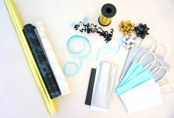 Gather your gift wrap supplies