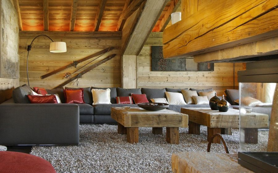 Generous seating space inside Chalet Pearl
