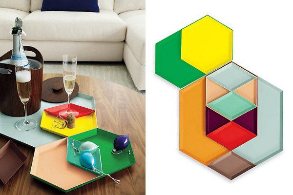 Geometric trays