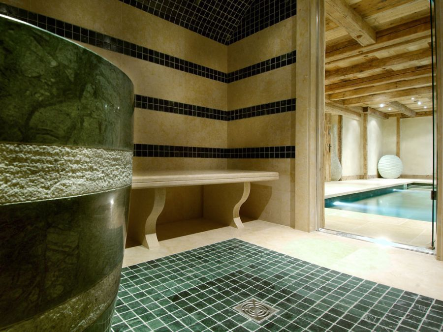 Get a relaxing sauna experience at the Alpine getaway