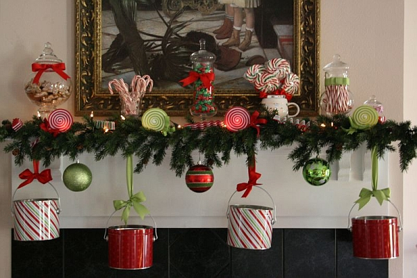 Get imaginative with the mantel decorations