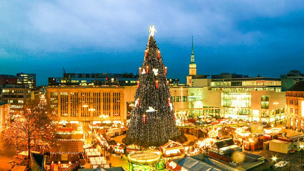 Giant Christmas tree in Germany