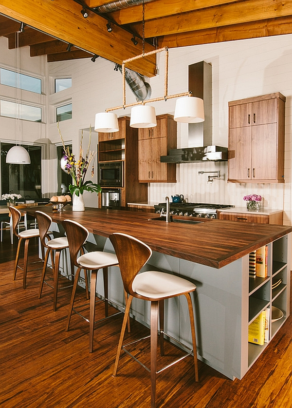 Gorgeous Cherner stools at the kitchen counter