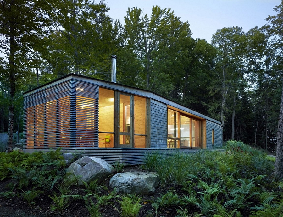 Ultra modern cabin blends rustic warmth with modern minimalism for Small cottage plans canada