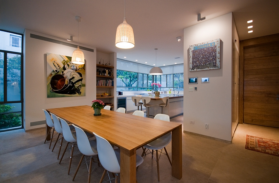 Gorgeous dining are inside the Ramat HaSharon home