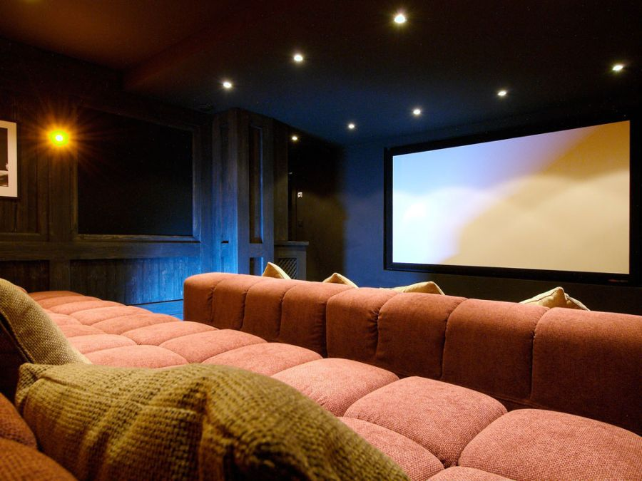 Grand home theater at the Chalet