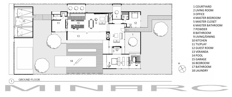Ground level floor plans of the Appleton Living Residence