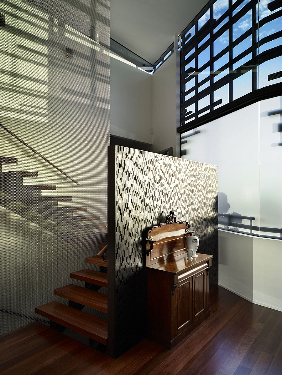 Hidden staircase design New Zealand home