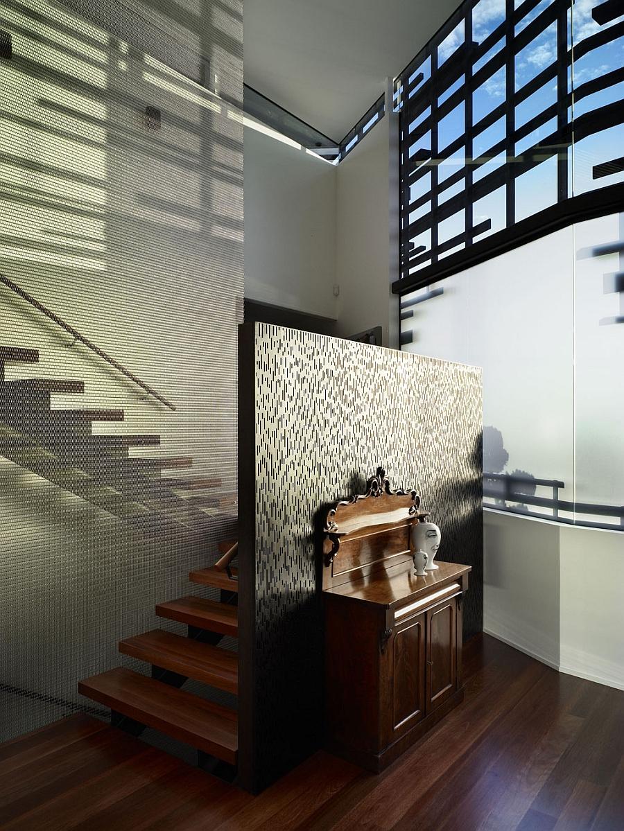Hidden staircase design New Zealand home