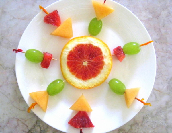 Fruit skewers with style