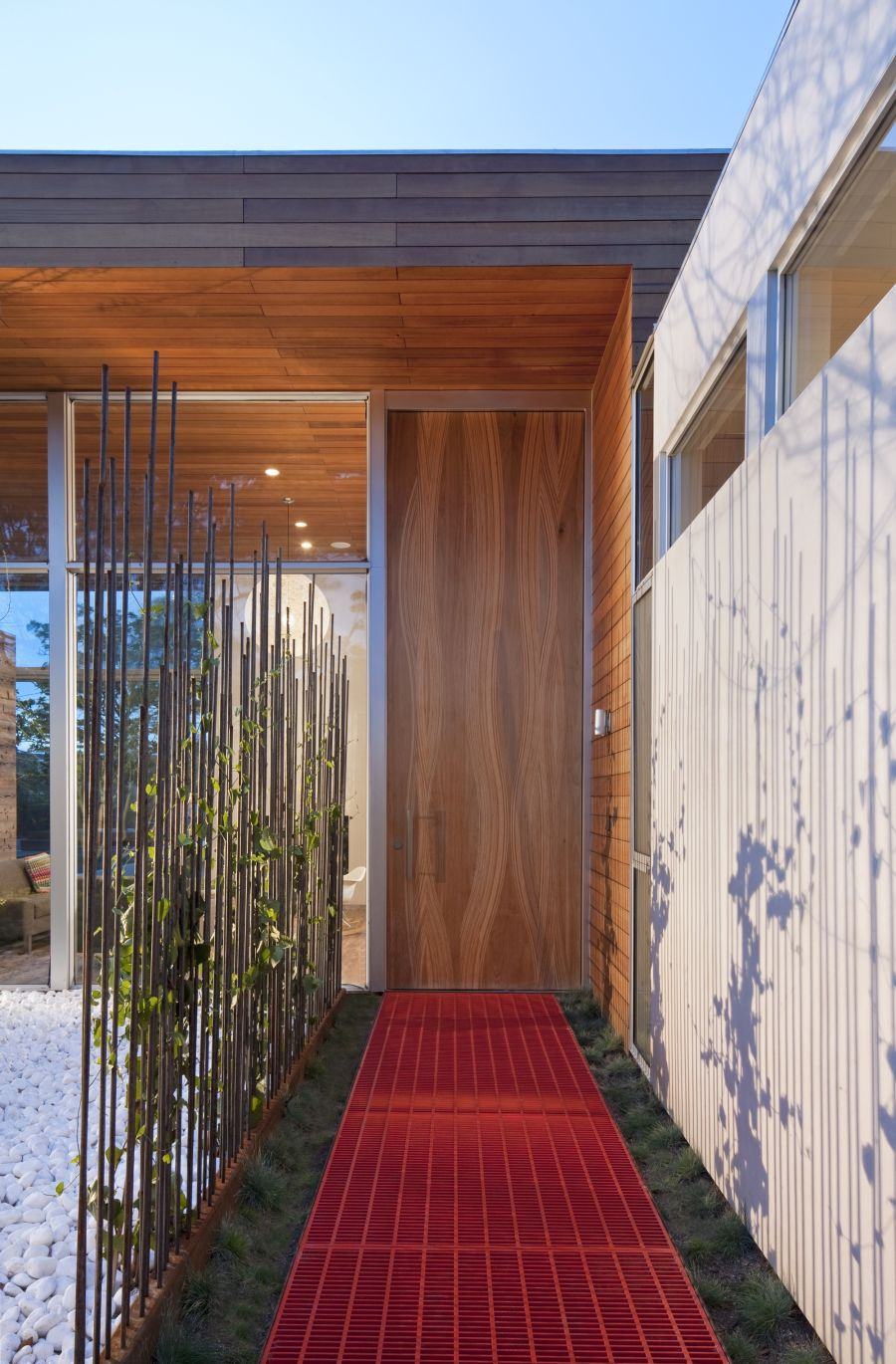 Innovate and stylish walkway at the Appleton Living house