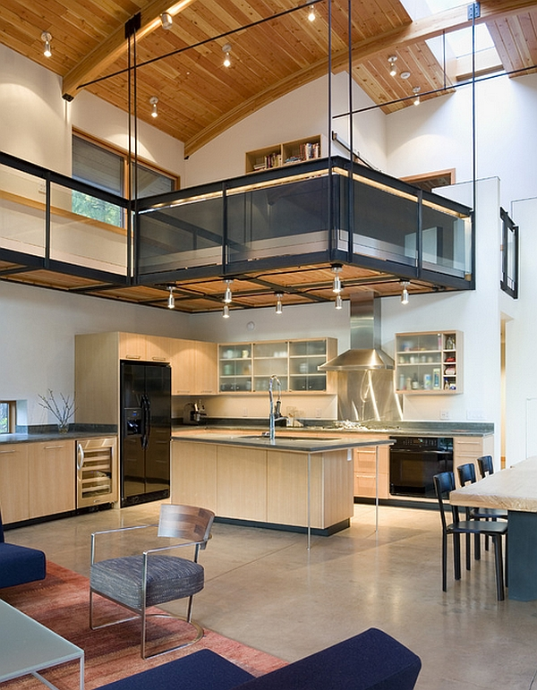 Innovative way to create additional space in a home with high ceiling