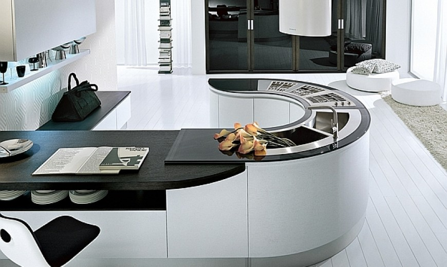 Trendy Contemporary Kitchen With Sizzling Style And Savvy Storage Space