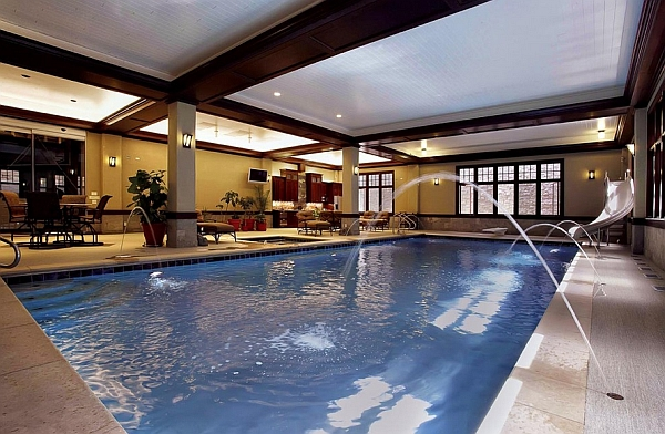 50 indoor swimming pool ideas taking a dip in style for Pool jets design