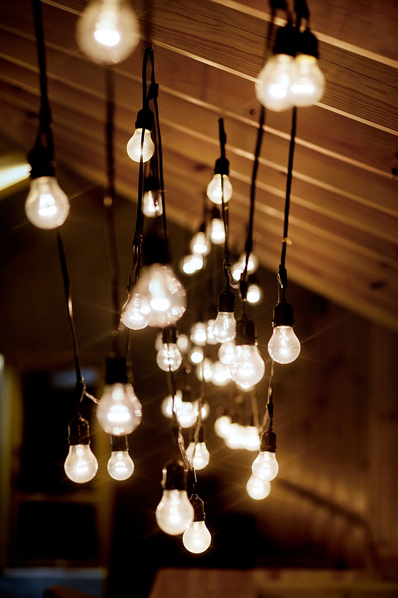 rustic interior lighting. View In Gallery Keeping The Attic Lighting Uncomplicated Rustic Interior