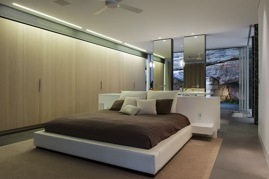King-sized bed in the resort style ensuite retreat