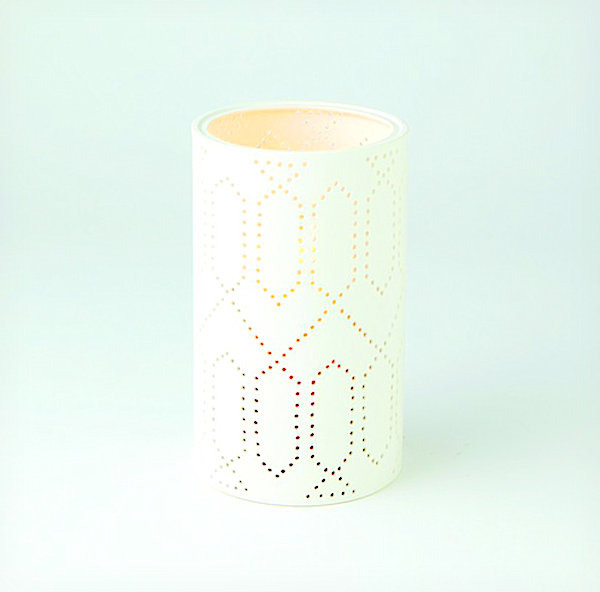 Lantern with patterned detail