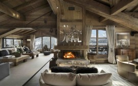 Lavish living space of the Chalet in French Alps