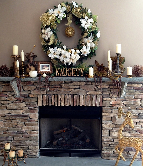 View in gallery Leave a little note for Santa on the mantel! & 50 Christmas Mantle Decoration Ideas