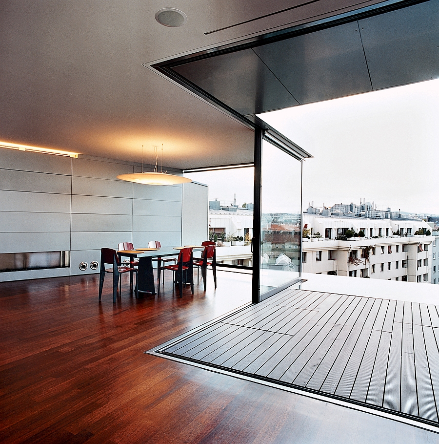 View in gallery light weight steel skeleton of contemporary vienna penthouse