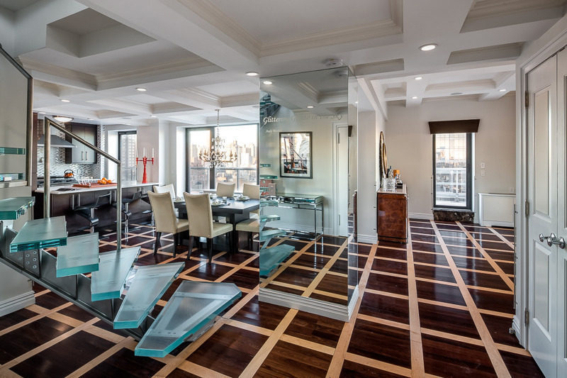 Look at the open floor plan inside NYC Penthouse