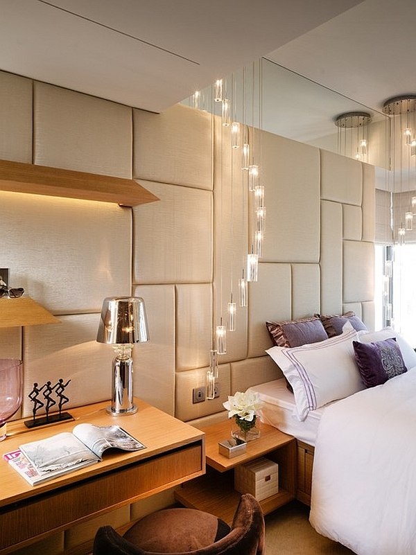 View in gallery Luxurious bedroom with leather padded walls. Regal Leather Walls That Put Wallpaper To Shame