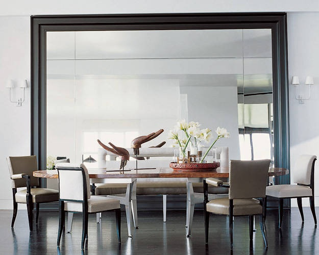 dining room mirrors. Turn your dining room into a house of mirrors and find yourself surrounded  by mouthwatering food even though some might just be reflection Decorate With Mirrors Beautiful Ideas For Home