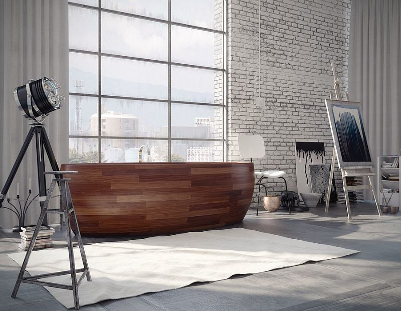 Madra wooden bathtub