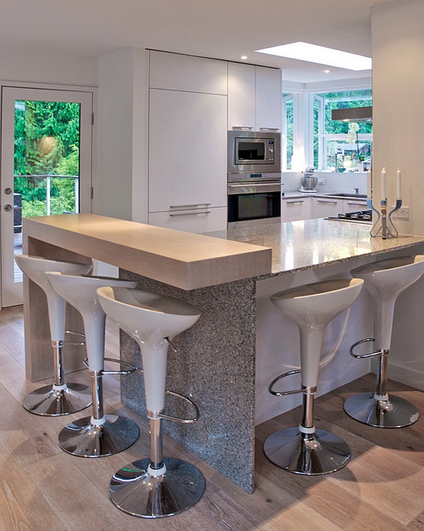 Magis Bombo Barstools in cool white