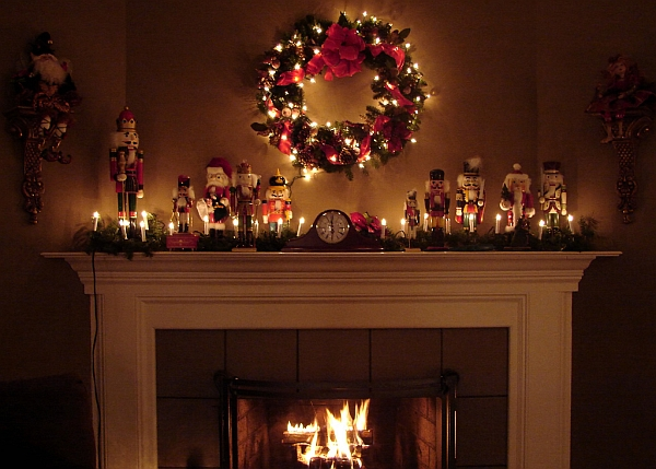 Make sure the mantel looks great even at night