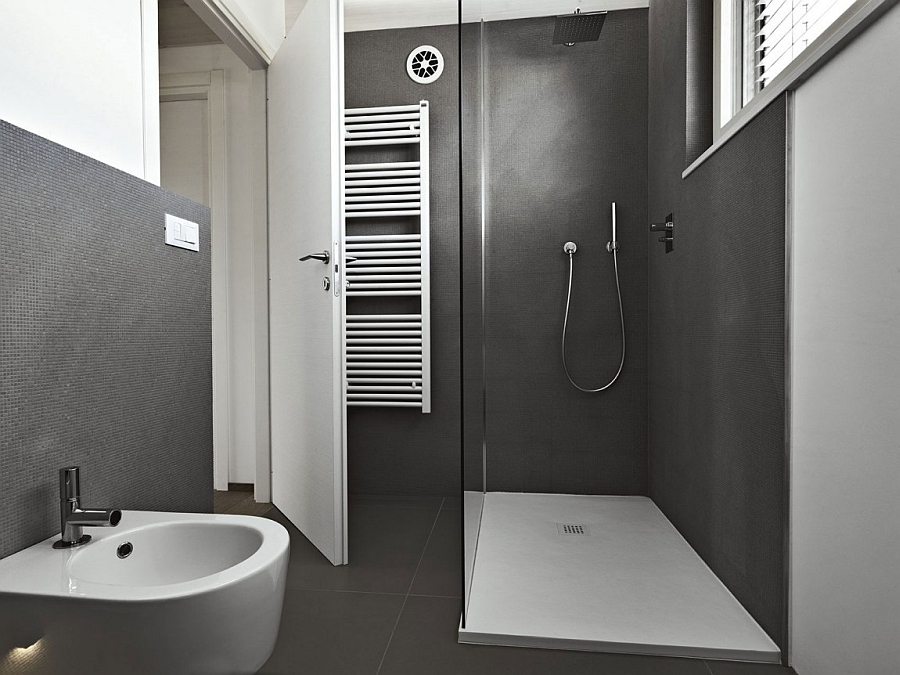 Minimalist Contemporary Bathroom In Grey And White Decoist