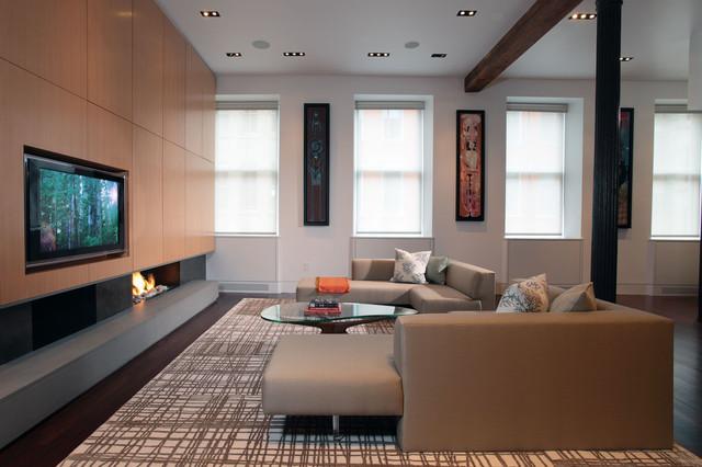 Modern Carini Lang rug in SOHO loft