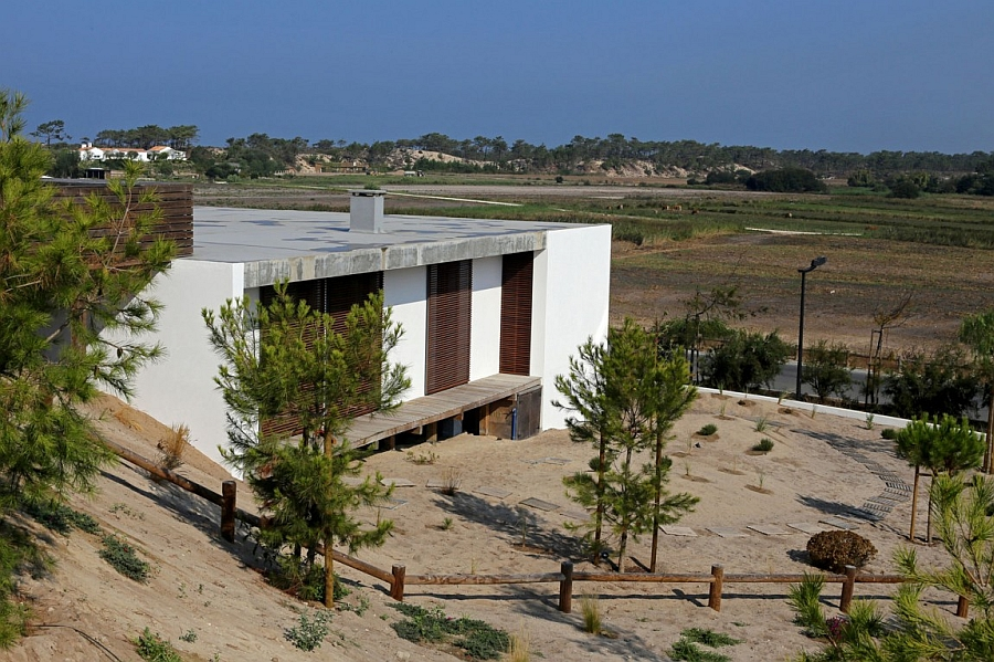 Modern exterior of the Portugese Villa