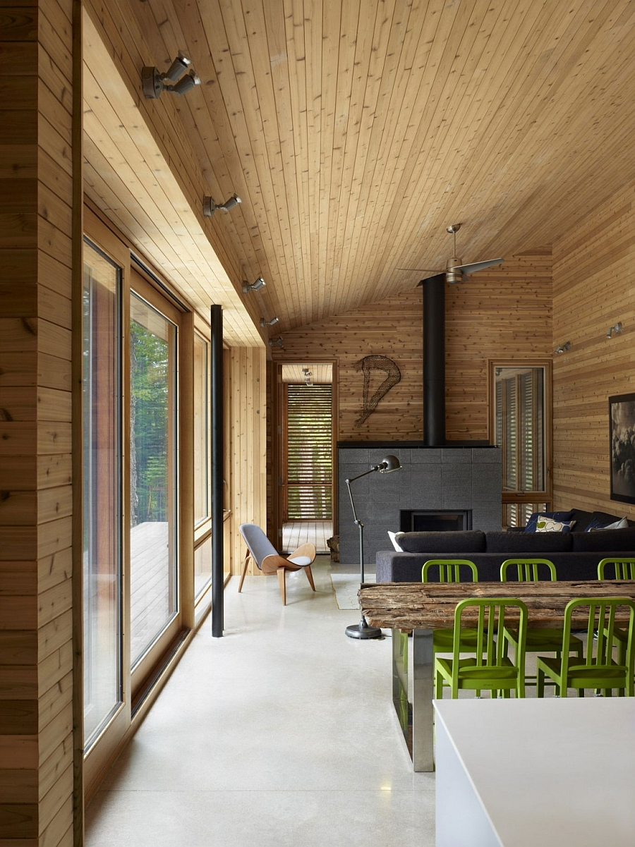 Ultra modern cabin blends rustic warmth with modern minimalism Modern cabin interior design