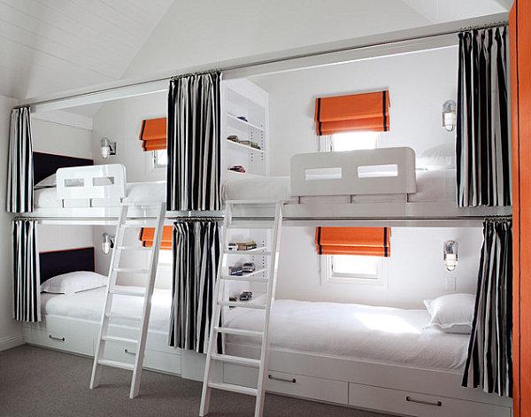 Modern loft sleeping