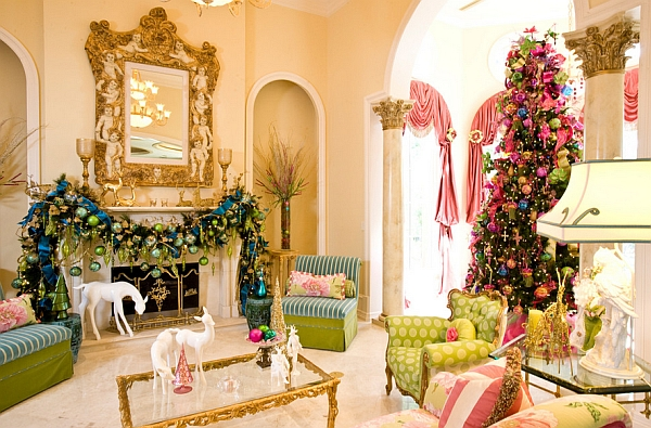 Multi-colored decorations create a vivacious look