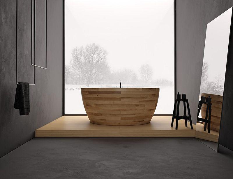 Munai bathtub in wood