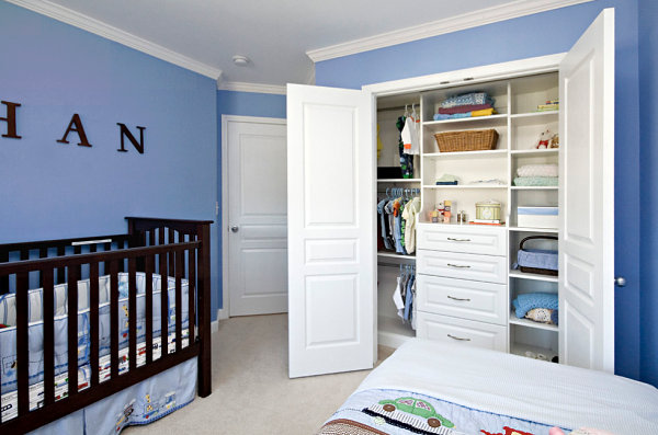 Beautifully designed nursery closet