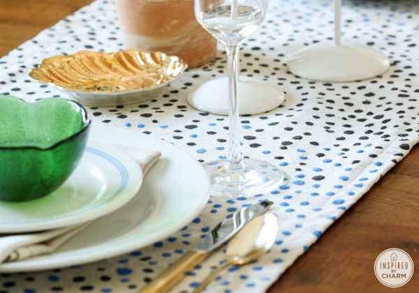 Paint dot table runner