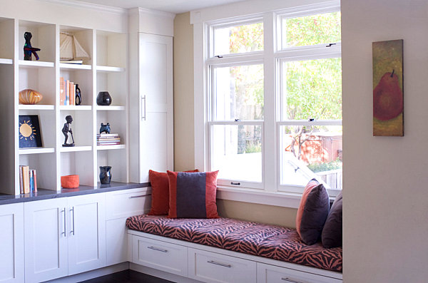 Patterned window seat