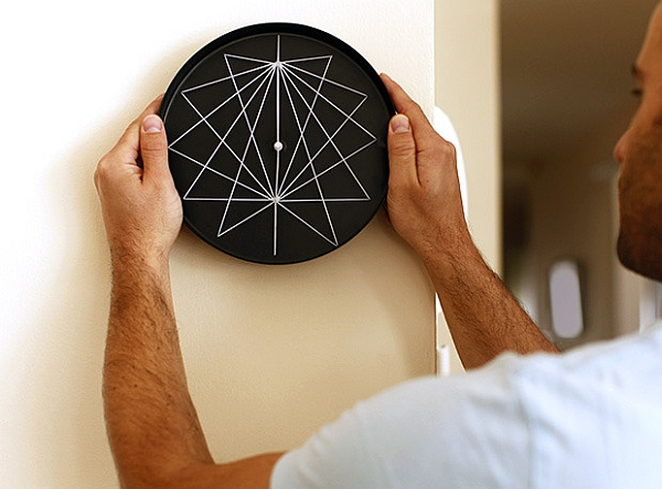 Perspective series of sculptural wall clocks