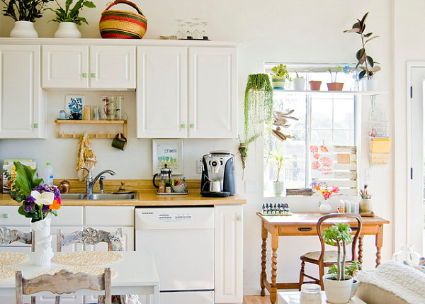 Plant-filled kitchen