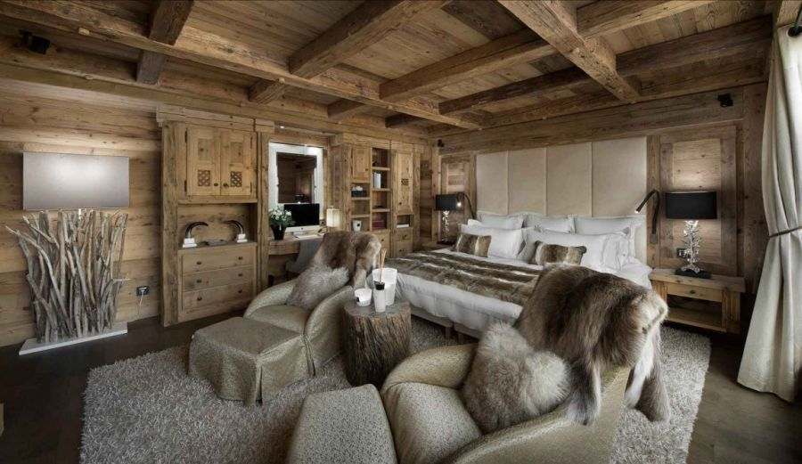 Plush and warm textures inside the bedroom