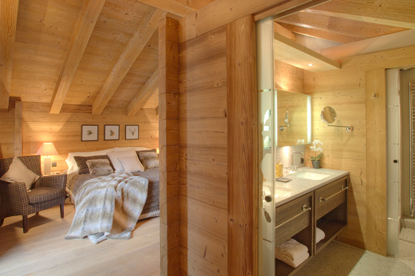Plush bedroom of Chalet Emma