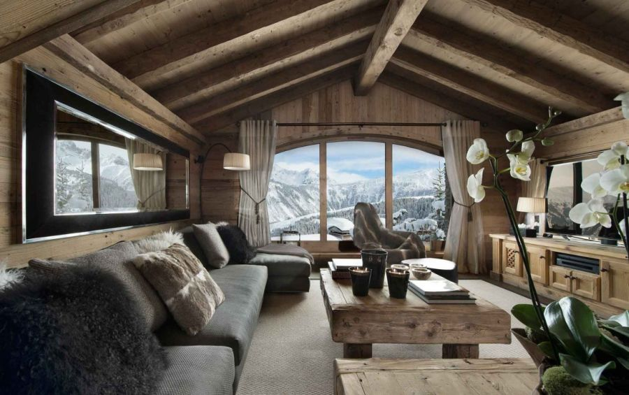 Plush interior of Chalet Pearl