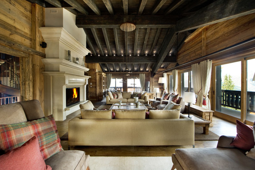 Plush interior of luxurious Chalet Edelweiss